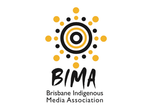 Brisbane Indigenous Media Association logo design by Iscariot Media